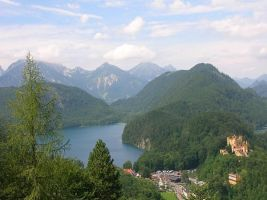 Germany-View of Neuschwanstein by AgiVega