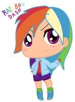 Chibi Human Rainbow Dash by Autumn-Spice