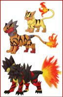 Fire tigers by shinyscyther