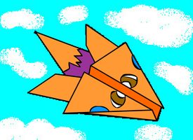 Paper plane Charlie by TheFlattened-Pikachu