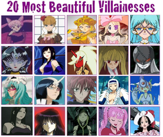 20 Most Beautiful Villainesses Meme by Camilia-Chan