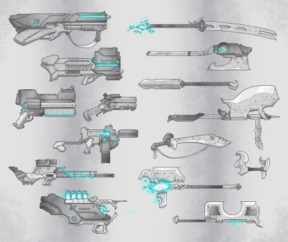Weapon Designs by BrotherBaston