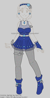Fashion Design2: Blue Diamond Rose by izka-197