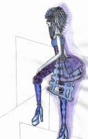 EGA PurpleXBlue Fashion Design by VampireLolitaAi