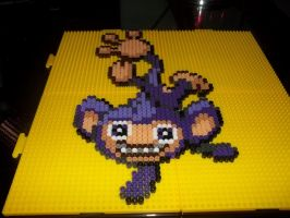 Aipom Perler by Libbyseay