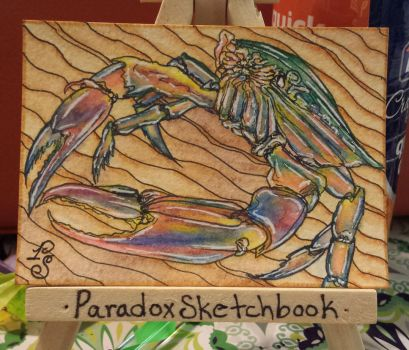 Crab ATC by ParadoxSketchbook