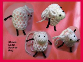 Sheep Soap Sachet Bag by Amaze-ingHats