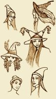Wizarding Hat Fashion by purplerebecca