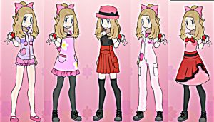 Serena in different Outfits~2 by TheKalosQueenSerena