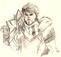 Quick Hawke sketch by ximena07