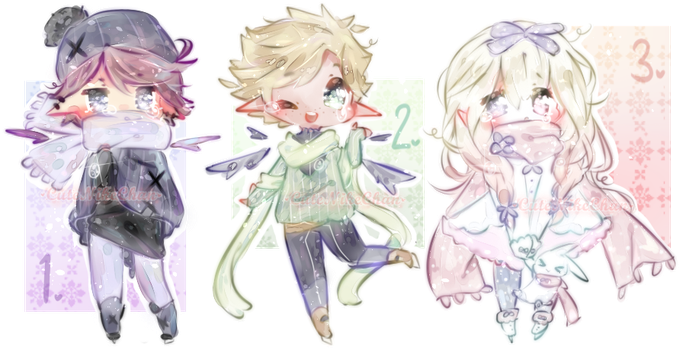 [Closed] Free Winter Adopts! - All Gone! by CuteNikeChan