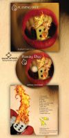Flaming Dice -CD Design by Cruzio