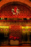 Chicago red Christmas elevator by spudart