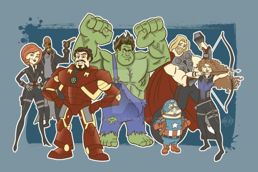 Disney Avengers UPDATED by MBrazee