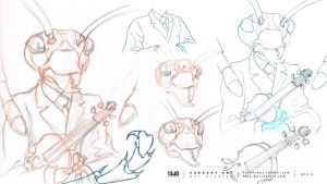 Sargent Ant - Studies of Referenced Material by 13Jo