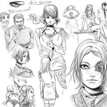 Misc drawings by ale-junk