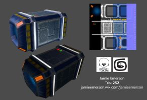 Space Crate by JamieEmersonArt