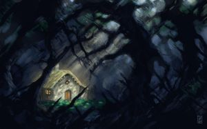 Dark forest cottage by LyntonLevengood