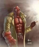 HellBoy fan art by iANAR