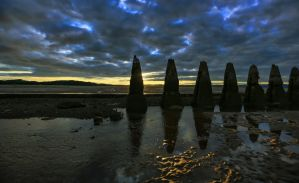 Concrete Pylons / WWII Submarine defence, Cramond by BusterBrownBB