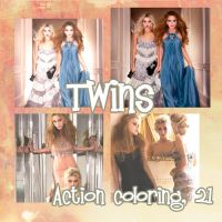 action coloring 21, twins by ohNJMinda