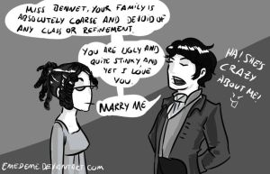 Darcy's proposal by emedeme