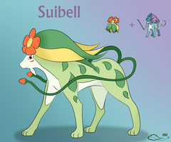 Pokemon Fusion - Suibell by The-Emerald-Otter