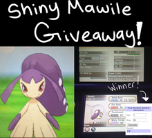 Shiny Mawile Giveaway! by ganbariMASUU
