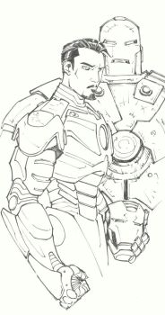 sketchy : Iron Man by KidNotorious