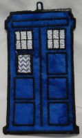 Tardis Iron On Patch by quiltoni