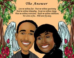 Caricature couple 072312 by raccoon-eyes