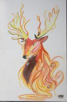 Elemental Fire Stag by dsok135
