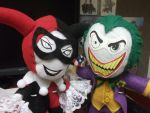 Joker and Harley Plushie Love by Franrie