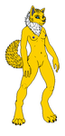 female anthro wolf version of jolteon (m) by MrBlock