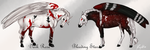 Bleeding Star n' Dark Rose by Meykka