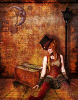 Steampunk Dolly Goes Traveling by faryewing