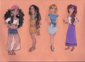 Modern Disney Princesses 2 by joshbeames