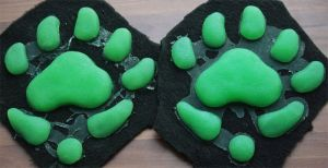 Silicone Canine paw pads for handpaws by Chibi-Alu