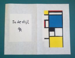 In de Stijl Mother's Day card by Dorigard