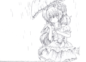 My drawing of sonnyaws Rain*Sweet*Umbrella by nature4ever101