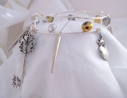 Silver Filled Charm Bangle: Hatatose Collection by DarkFireRaven