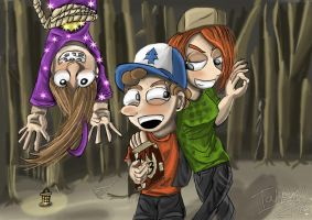 Mabel, Dipper and Wendy: Deviation #30! by Tahkyn