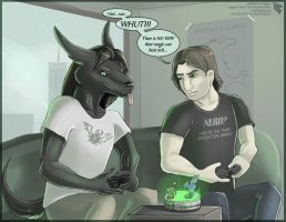Wait... whut... (FAX Character Interaction) by Ulario