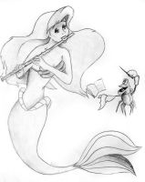 Disney musicians - Ariel by songbirdholly