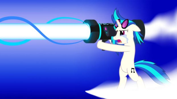 Vinyl Scratch Return Attack - Wallpaper by SDC2012