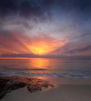 Sennen Sun Storm by DL-Photography
