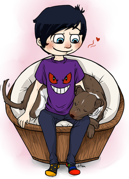 Phil and his new best friend by orsholya