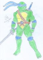 Leonardo - The fearless leader by FoxBluereaver