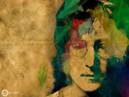 John Lennon by Gingybreads