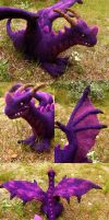Felted purple dragon by Spyrre